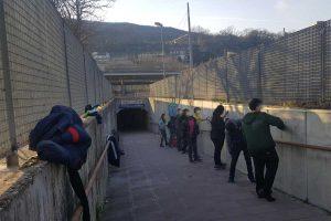 Orte - Gli studenti realizzano un murale in stazione