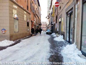 Viterbo - Emergenza neve - Via del Corso