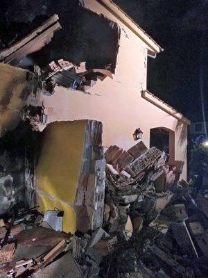 Montalto di Castro - La villetta subito dopo l'esplosione