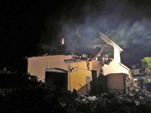 Montalto di Castro - La villetta distrutta a Torre di Maremma