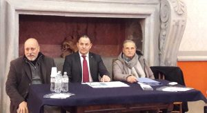 Montefiascone - La conferenza di presentazione dello spostamento della lapide funeraria di Defuk