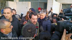 Viterbo - Matteo Salvini (Lega) alle ex terme Inps