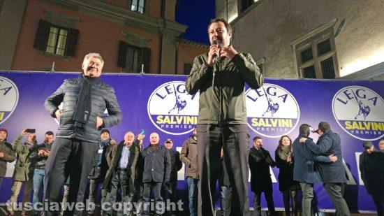 Viterbo - Matteo Salvini a piazza del Comune
