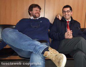 Tribunale - Filippo Rossi con l'avvocato Giacomo Barelli