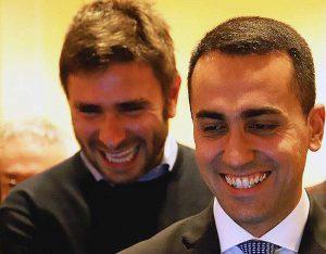 Luigi Di Maio con Alessandro Di Battista