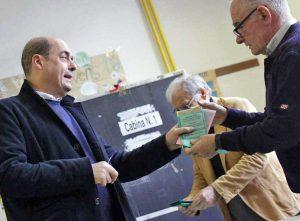 Elezioni - Politiche e regionali 2018 - Zingaretti al voto
