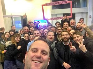 Elezioni politiche - Alessandro Battilocchio festeggia