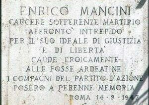 Ronciglione - Enrico Mancini - La lapide commemorativa