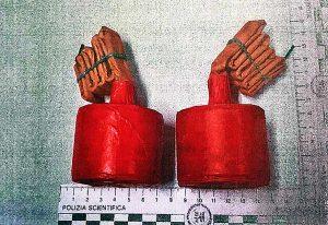 Con due bombe artigianali a vedere Robur Siena - Viterbese - Gli ordigni sequestrati