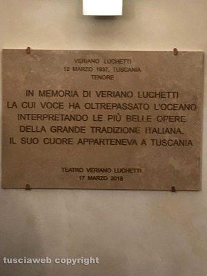 Tuscania - Il teatro Rivellino dedicato al tenore Veriano Luchetti