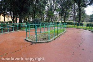 Viterbo - La pista di pattinaggio a Prato Giardino Lucio Battisti