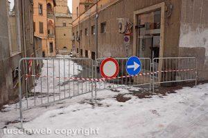 Neve a Viterbo - Via Cesare Dobici chiusa