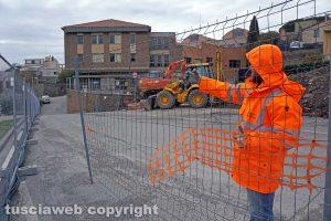 Viterbo - La rottura del collettore fognario - Lavori in corso