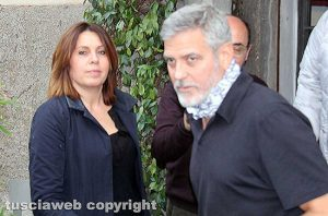 Viterbo - George Clooney e l'assessora Sonia Perà