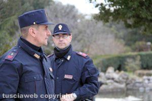 Viterbo - La Polizia a Pratogiardino