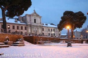 Monte Romano - Monte Romano ricoperta di neve
