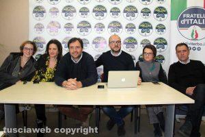 Viterbo - La conferenza stampa di Fratelli d'Italia