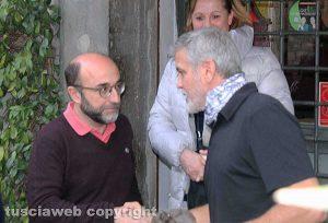 George Clooney con Mauro Morucci
