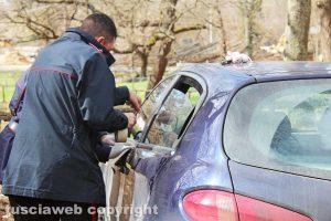 Viterbo - Rapina alla gioielleria Bracci - L'auto della fuga