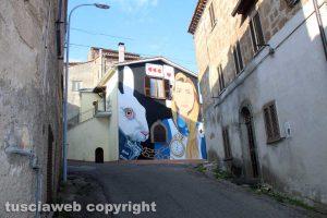 Il murale di Alice a Sant'Angelo di Roccalvecce