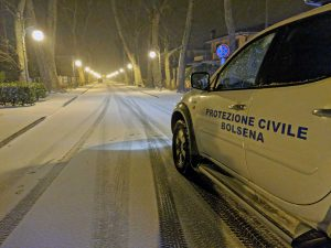 Neve a Bolsena - La protezione civile