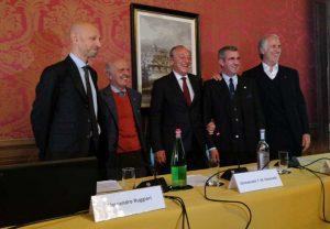 Alessandro Ruggieri, Mauro Checcoli, Emmanuele Emanuele, Marco Di Paola e Giovanni Malagò