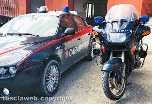 Civita Castellana - Auto e moto dei carabinieri