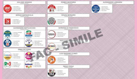 Scheda Camera Circoscrizione Lazio2 Collegio plurinominale1 Uninominale2