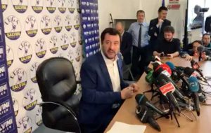 Elezioni politiche - La conferenza stampa di Matteo Salvini
