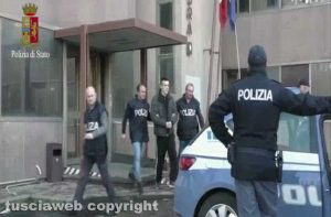 Viterbo - Questura - L'arresto di Denis Illarionov