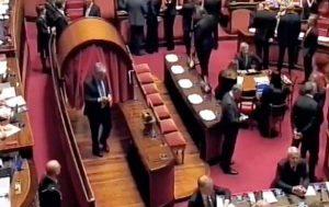 Roma - Senato - Umberto Fusco vota