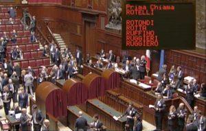 Roma - Camera - Mauro Rotelli al voto