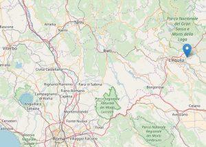 L'Aquila - Scossa di terremo di magnitudo 3,9