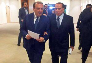 Silvio Berlusconi con Fulvio Martusciello