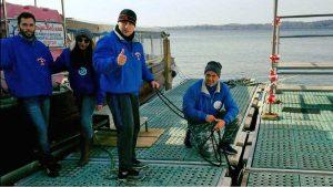 Capodimonte - Isola Bisentina - Lo staff al lavoro sui battelli