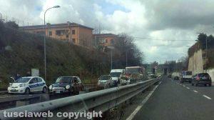 Viterbo - L'incidente sul Semianello
