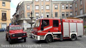 Montefiascone - I vigili del fuoco sul posto