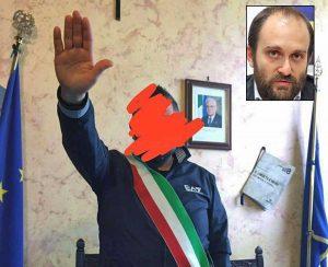 Tarquinia - Saluto fascista in comune - Nel riquadro Matteo Orfini (Pd)