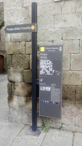 Viterbo - Cartello informativo a San Pellegrino