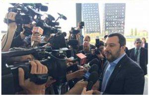 Milano - Matteo Salvini al salone del mobile