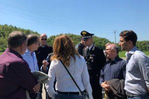 Montefiascone - Air show lago di Bolsena - La commissione di sicurezza a terra