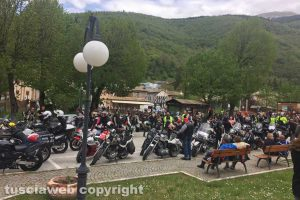 Gli Etruschi bikers di Sutri all'evento benefico per Visso e Ussita