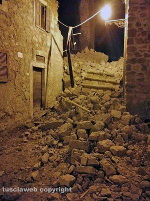 Paura a Chia - Crollo nel centro storico