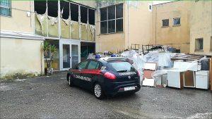 Civitavecchia - Carabinieri - Scuola in fiamme in via Achille Montanucci