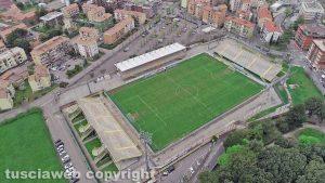 Viterbo - Lo stadio Rocchi visto dall'alto