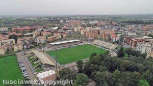 Sport - Calcio - Viterbese - Lo stadio Rocchi visto dall'alto