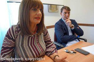 Viterbo - Silvia Somigli e Giancarlo Turchetti alla conferenza stampa della Uil scuola