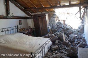 Soriano nel Cimino, Chia - Una delle case colpite dal crollo