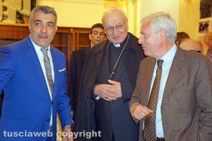 Viterbo - Urbano Salvatori assieme al vescovo Lino Fumagalli e al sindaco Leonardo Michelini