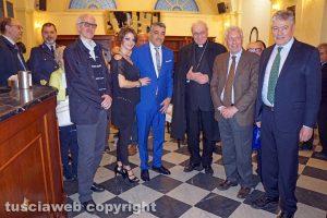 Viterbo - Foto di gruppo per la riapertura del Gran Caffè Schenardi